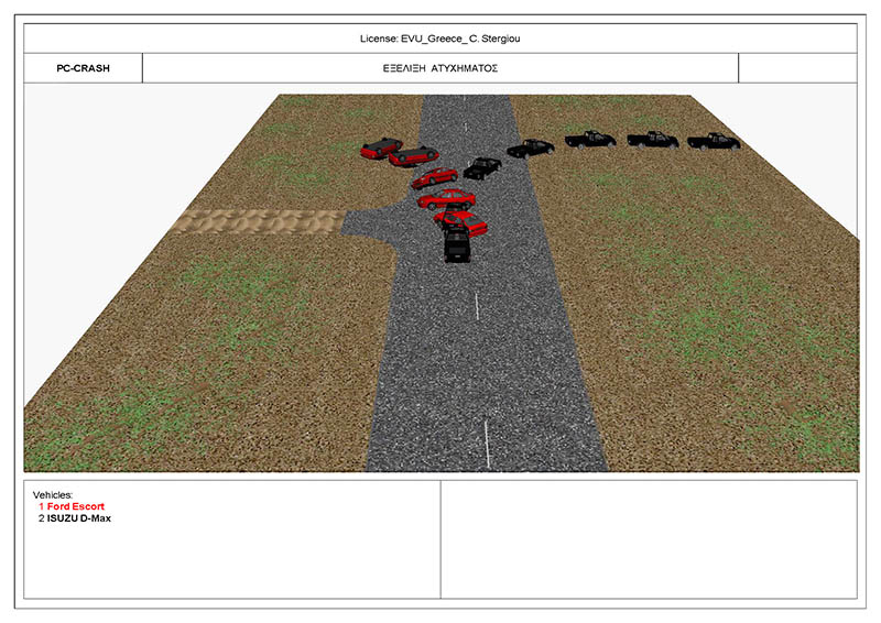 Simulation of an accident using the special software program Pc - Crash