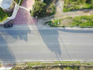 traffic accident aerial photography