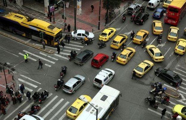 traffic chaos greece