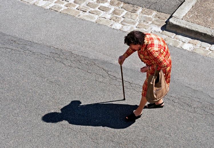 elderly pedestrian