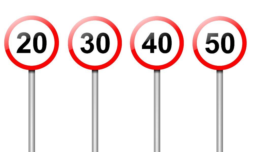 σήμανση ορίου ταχύτητας