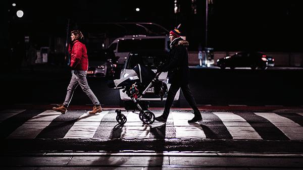 road safety attention to pedestrians